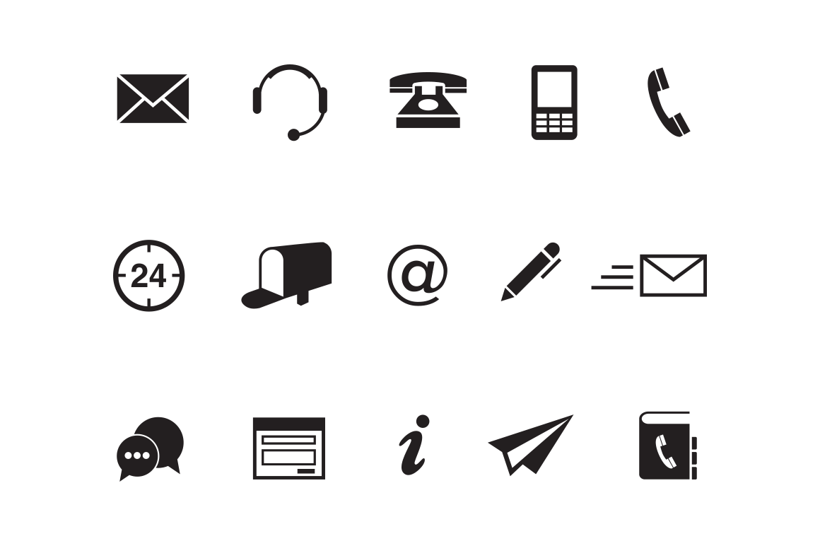 Contact Icons Png images collection for free download.