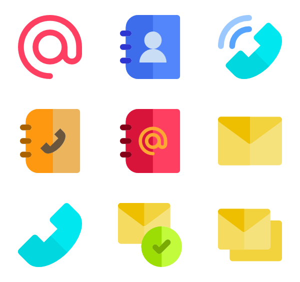 130 contact icon packs.