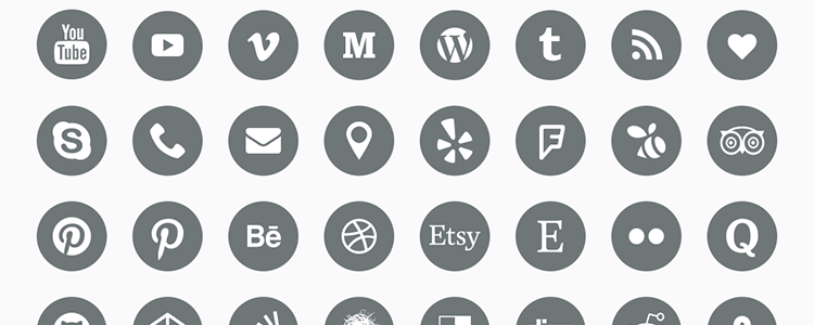 The Top 40 Free Social Media Icon Sets.