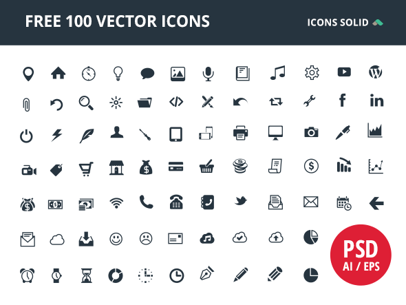 100 Free Vector Icons.