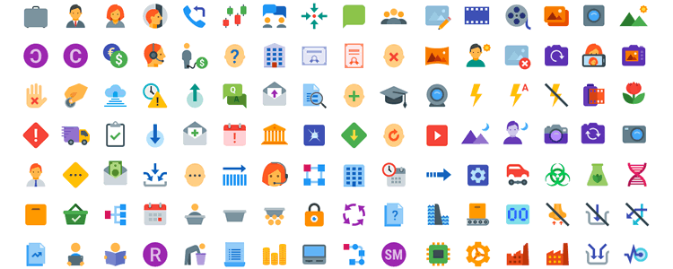 Top 50 Free Flat Icon Sets for UI Design.