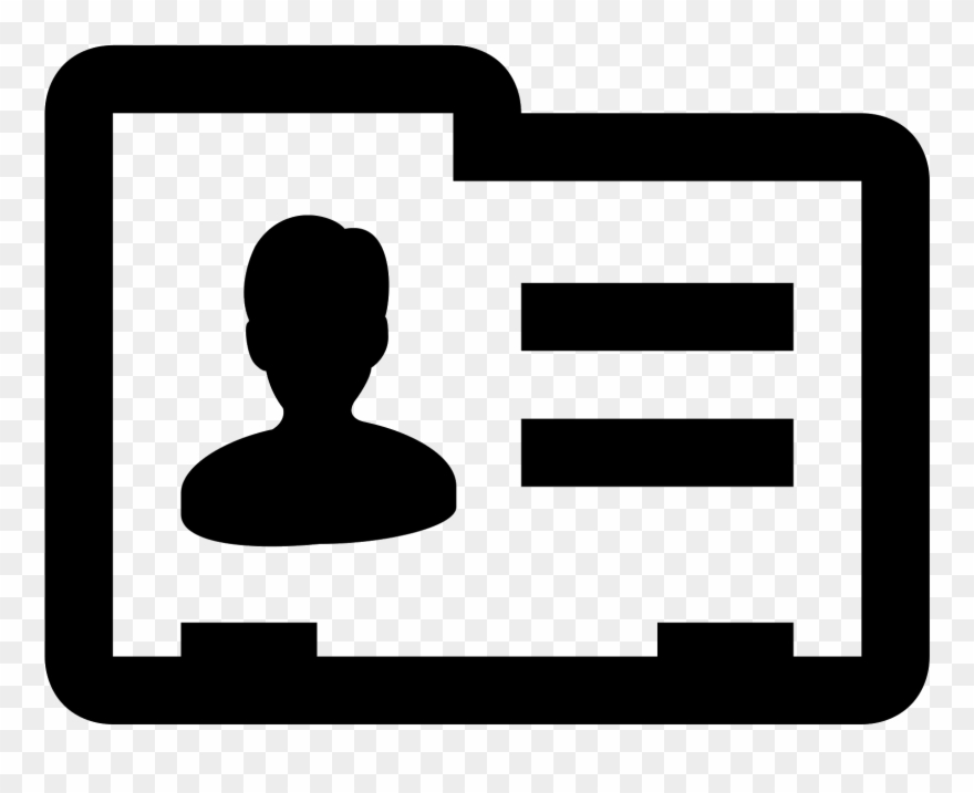 This Icon Represents A Contact Card.