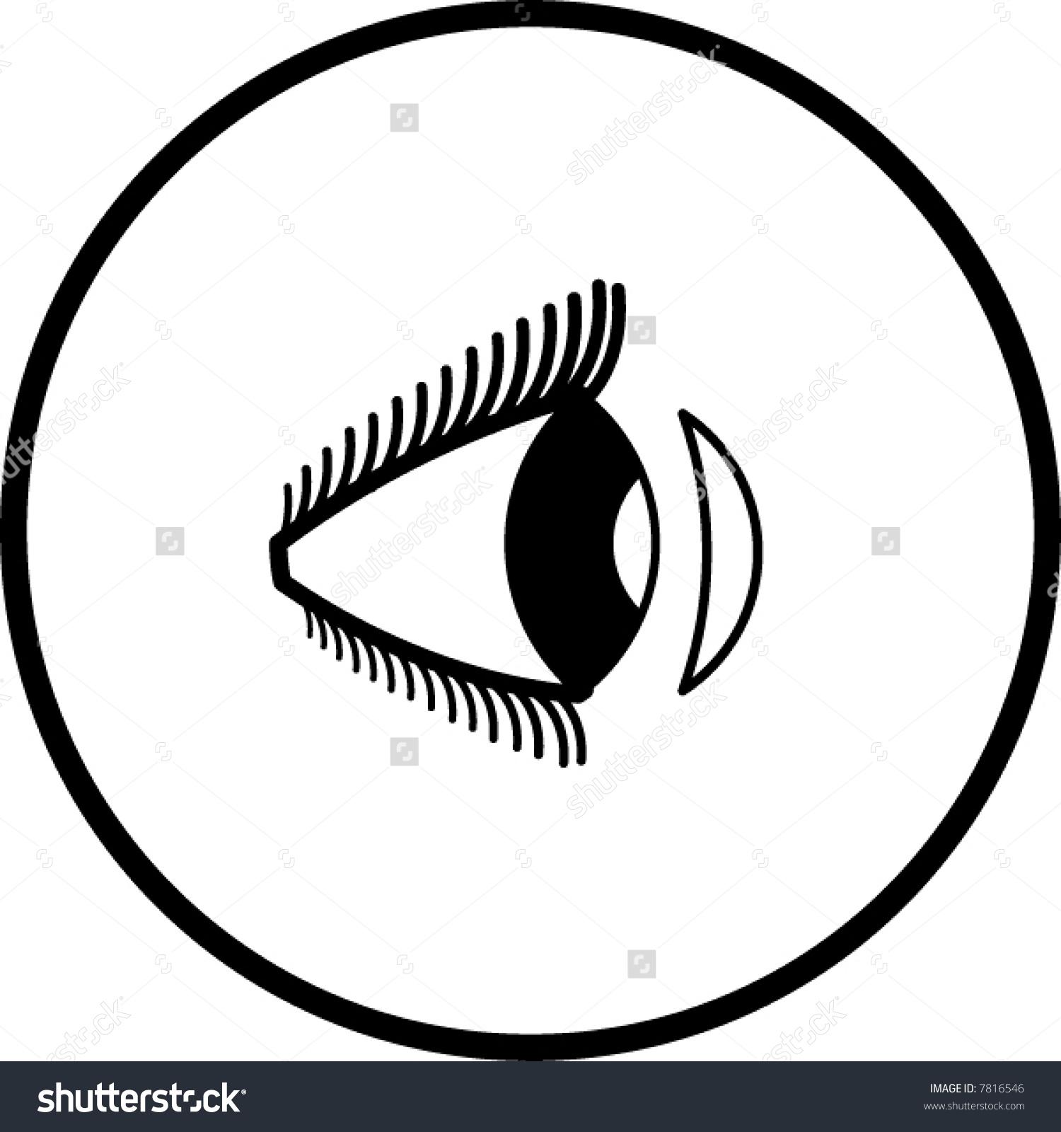 Contact Lens Symbol Stock Vector 7816546.