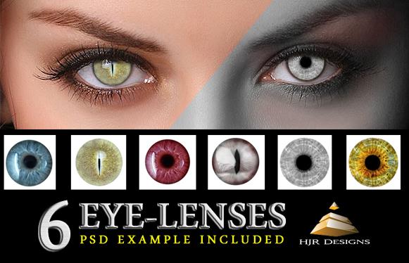 6 Eye Lenses by HJR.