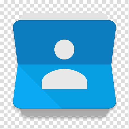 White and blue box illustration, Google Contacts Google.
