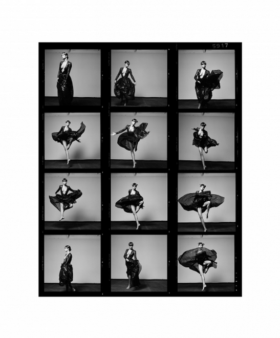 Helena Contact Sheet by Michel Comte.