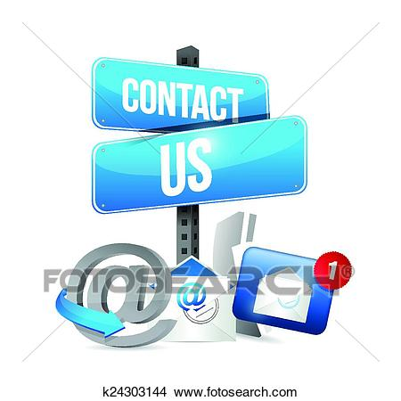 Contact us communication icons Clipart.