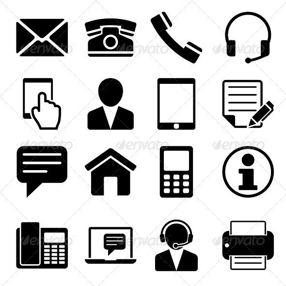 Contact Us Icons Set Web Icons #1421.