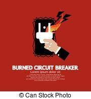 Circuit breaker Vector Clipart Royalty Free. 87 Circuit breaker.