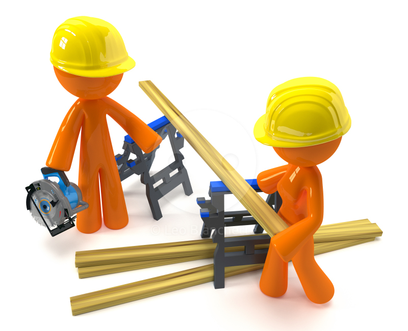 Building contractor clipart.