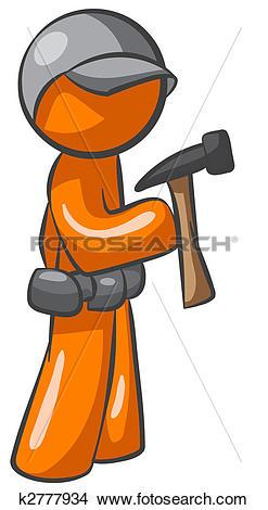 Drawings of Orange Man Contractor k2777934.