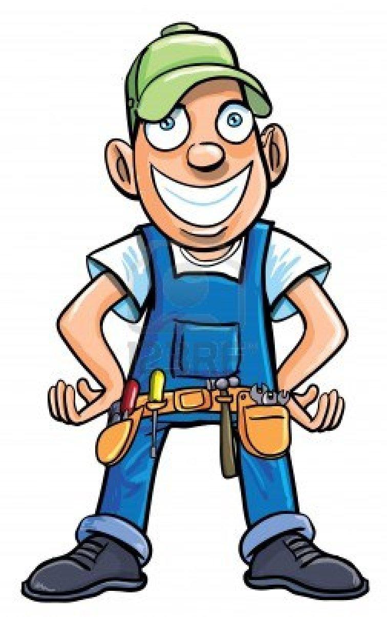 Cartoon contractor clipart.