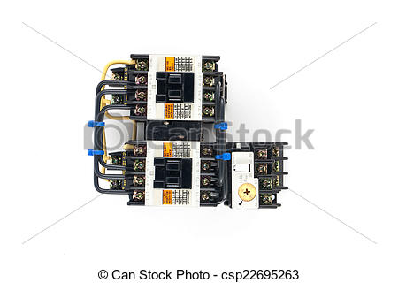 Stock Image of Magnetic Contactors csp22695263.