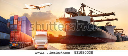 Cargo Container Stock Images, Royalty.