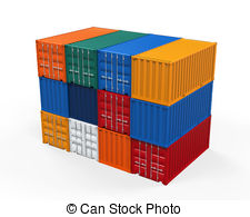 Shipping container Clipart and Stock Illustrations. 27,191.