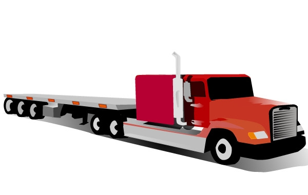 Container Truck clip art Vector.