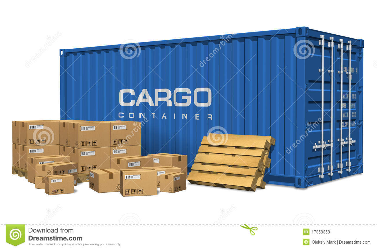 Container Stock Illustrations.