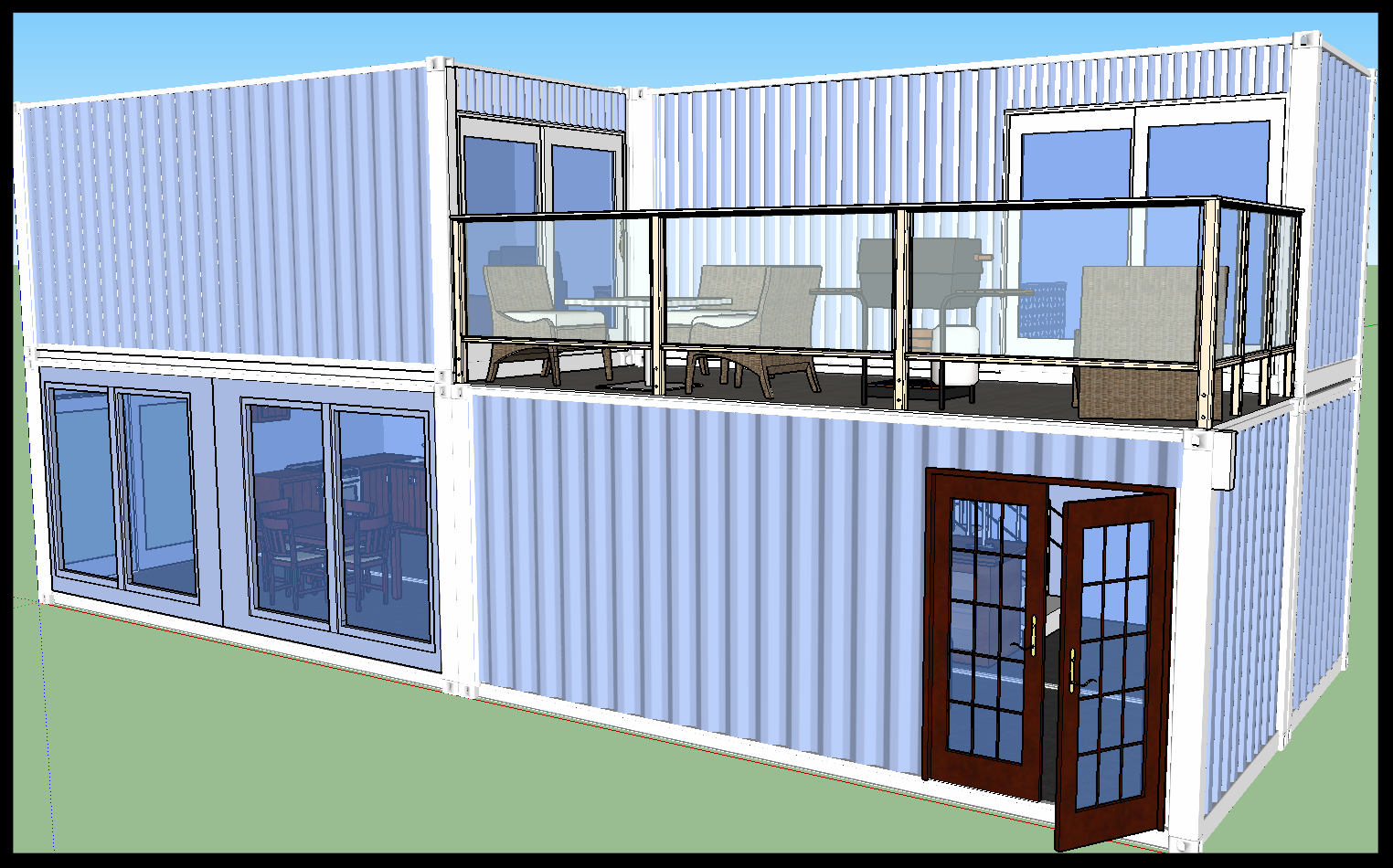 Container house, container home, shipping container home, tiny house.