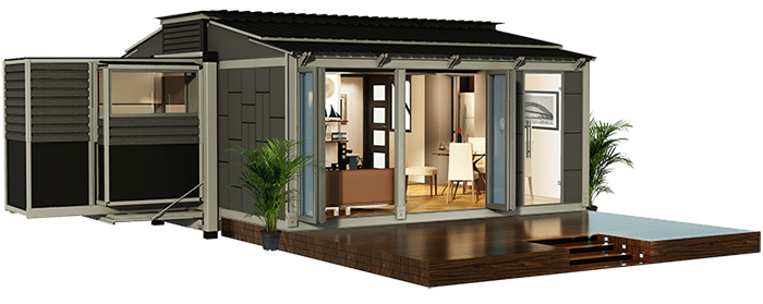 Amazing Off Grid Expandable Portable Shipping Container Home.
