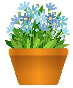 Flower in a pot clipart.