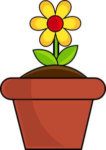 Flower pot clipart images.