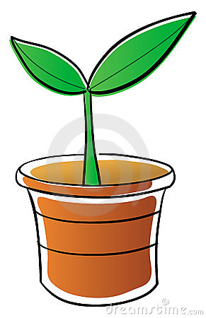 Potted Vegetable Plant Clipart.