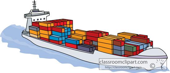 Container Ship Clip Art.