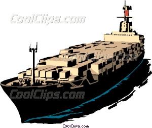 Cargo ship Vector Clip art.