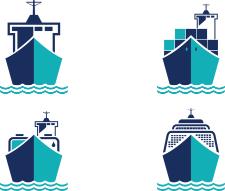 Container Ship Clip Art, Vector Images & Illustrations.
