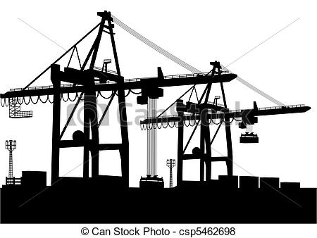 Container terminal Vector Clipart EPS Images. 564 Container.