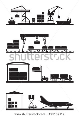 Container Terminal Stock Vectors, Images & Vector Art.