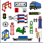 Container terminal clipart.