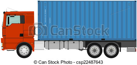 Truck with container..