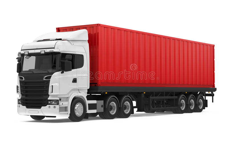 Container Truck Stock Illustrations.