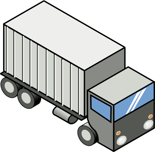Vector image of container carrying truck.