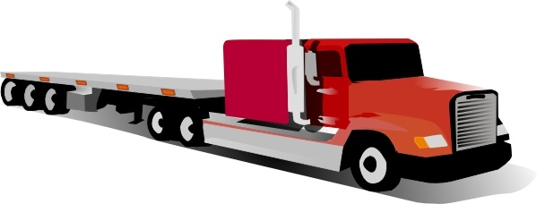 Container Truck clip art Free vector in Open office drawing svg.