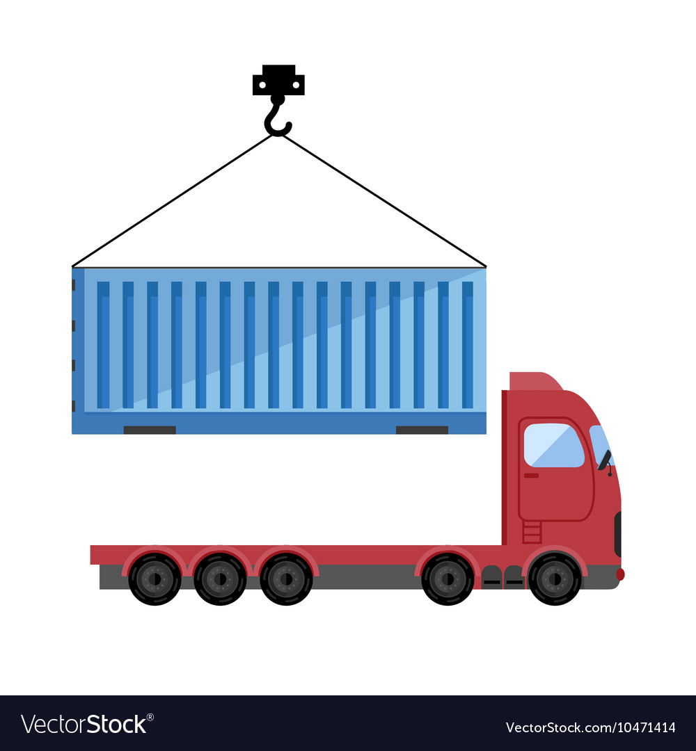 Container truck icon.
