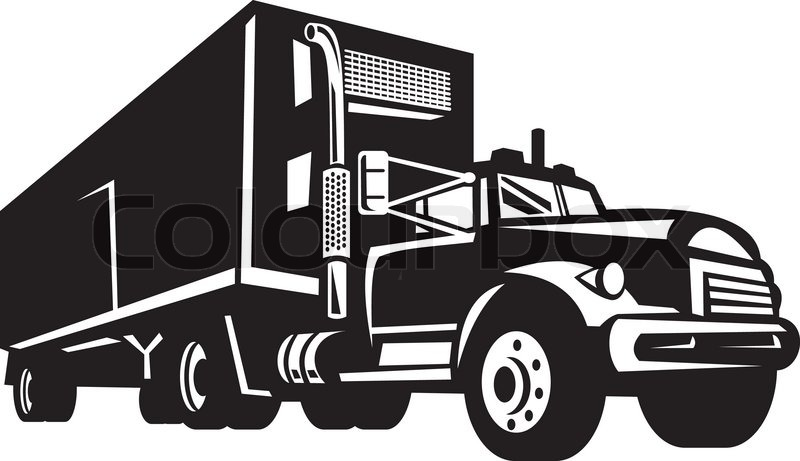 6 Container Truck Vector Images.
