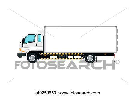 Freight container truck isolated icon Clipart.