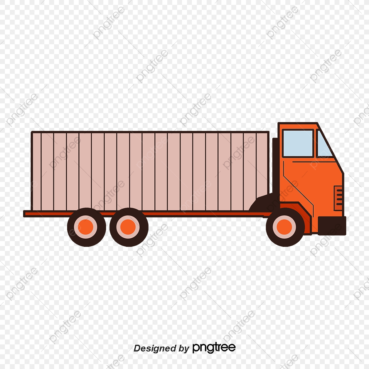 Container Truck, Hand Painted, Truck, Container PNG and Vector with.
