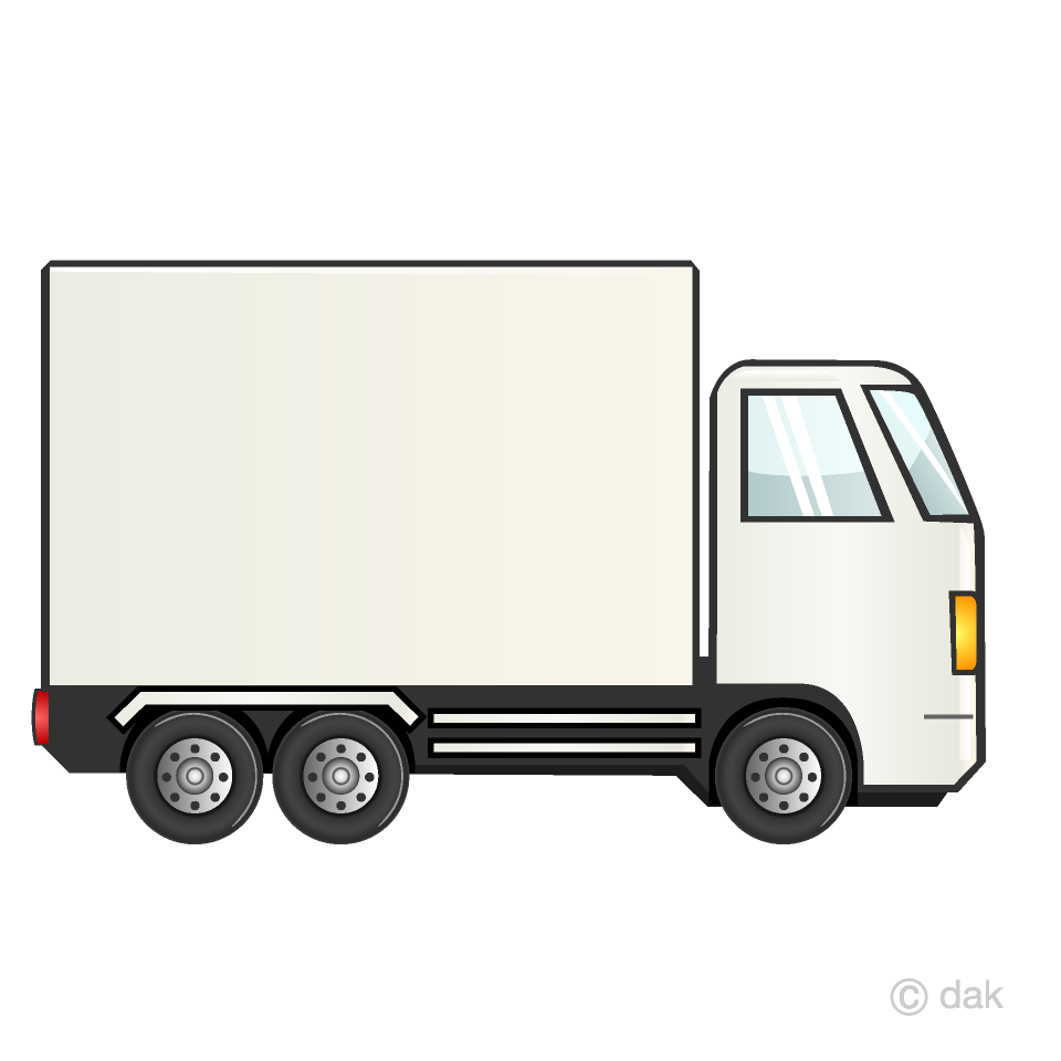 White Container Truck Clipart Free Picture|Illustoon.
