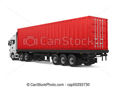 Container Truck Isolated.