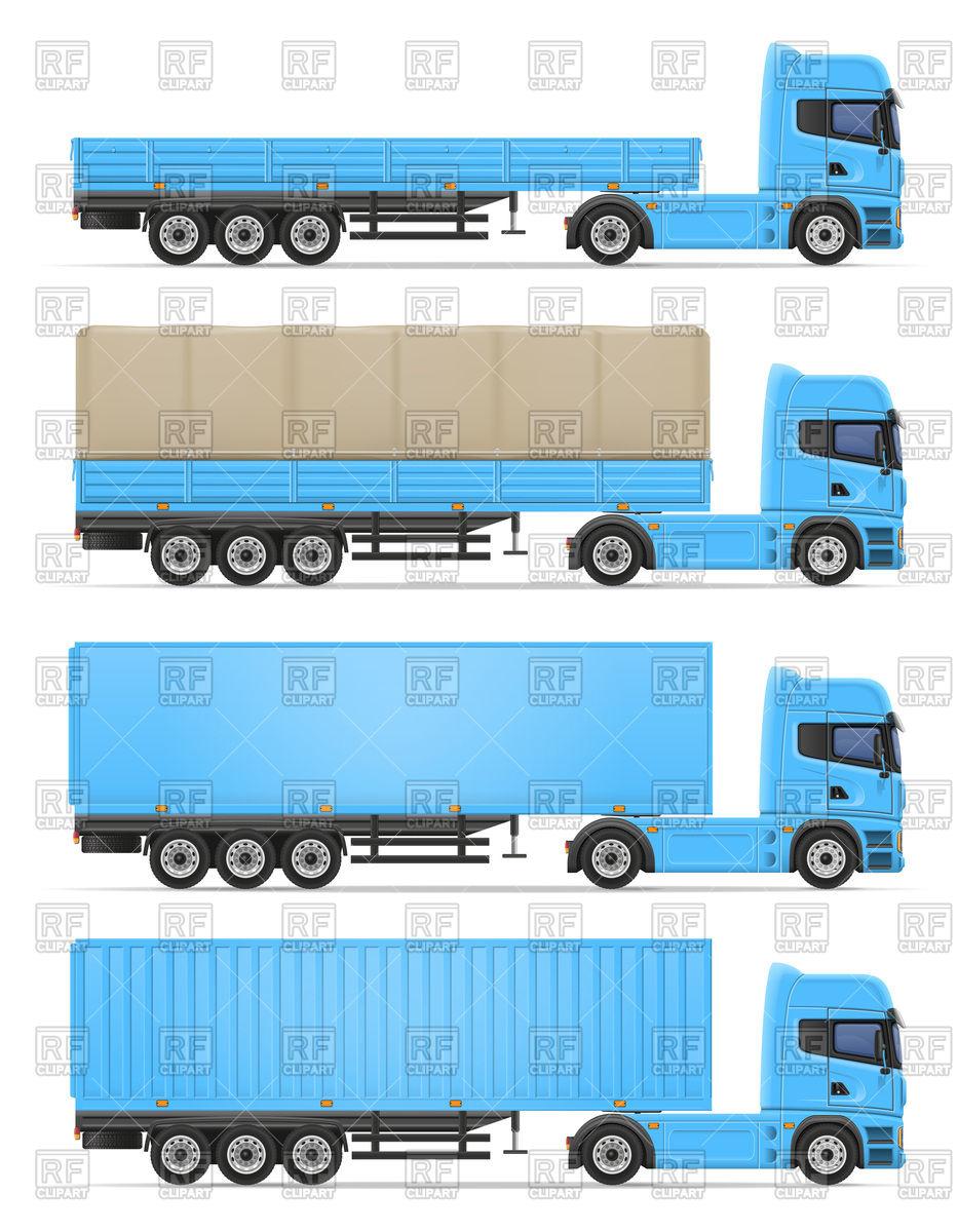 Truck semi trailer.
