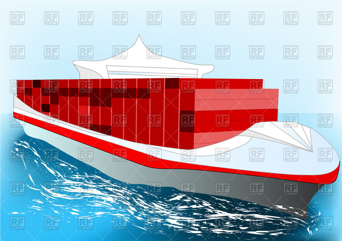 Container ship Vector Image #77121.
