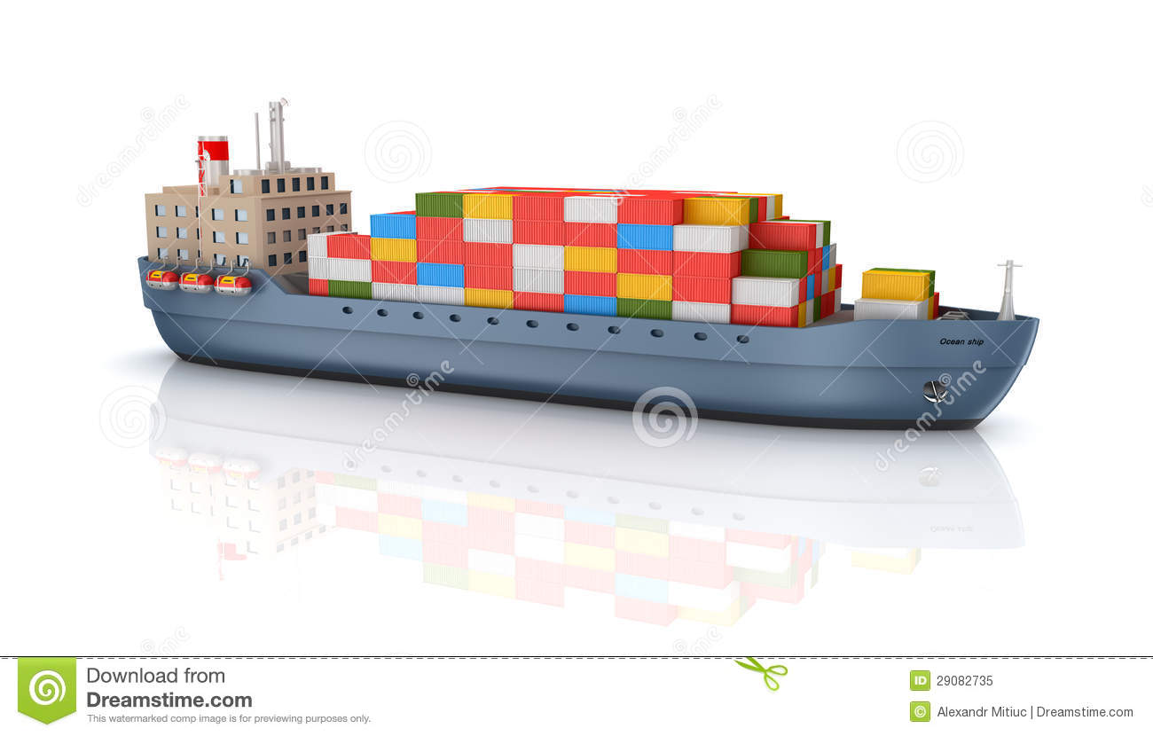 Cargo Container Ship Royalty Free Stock Photo.