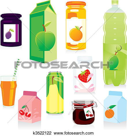 Clipart of isolated fruit containers k3522122.