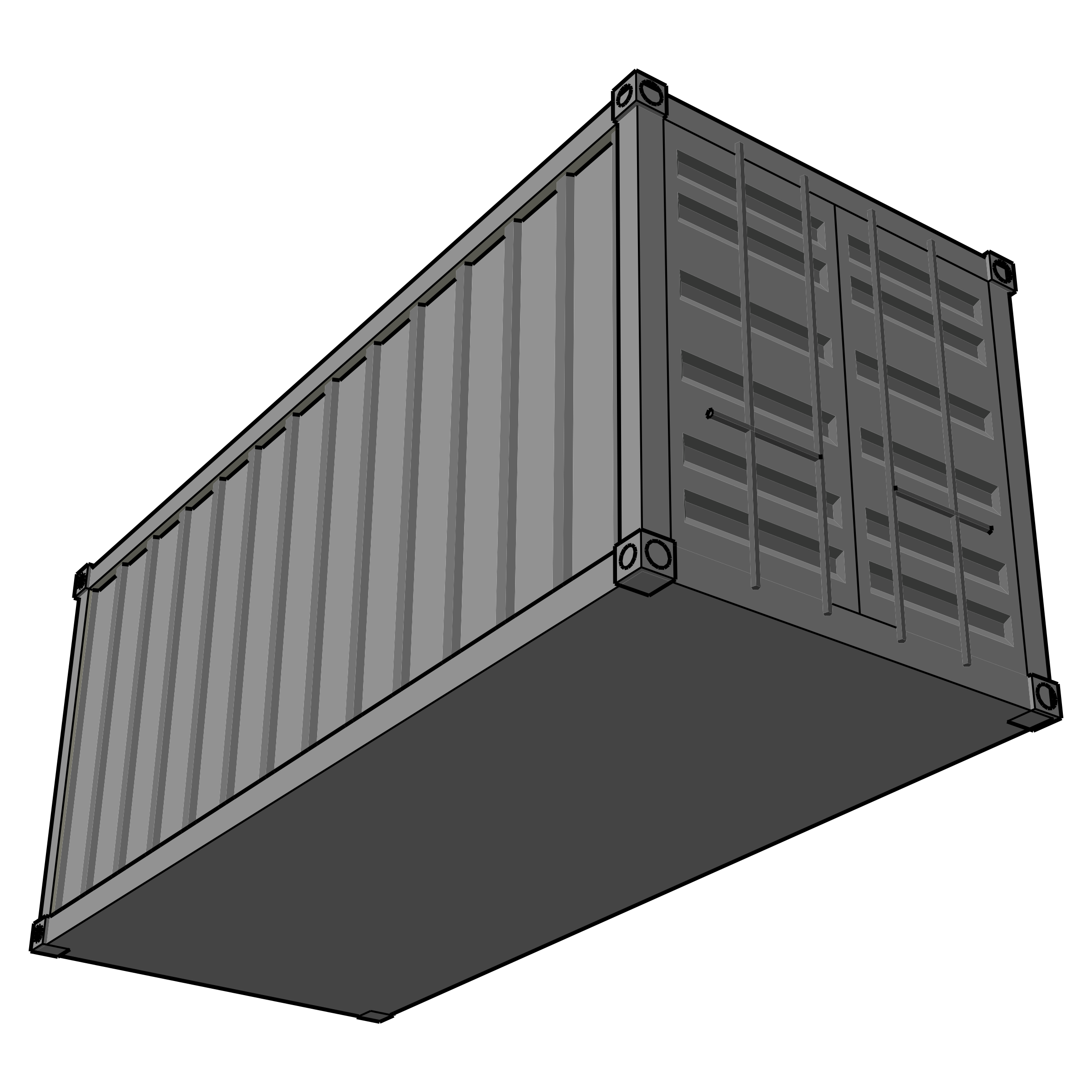 Shipping containers clipart.