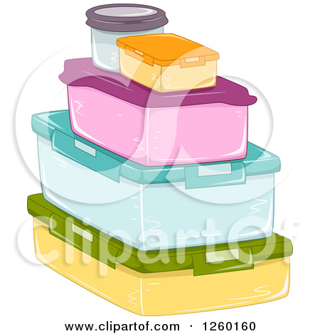 Food storage containers clipart.