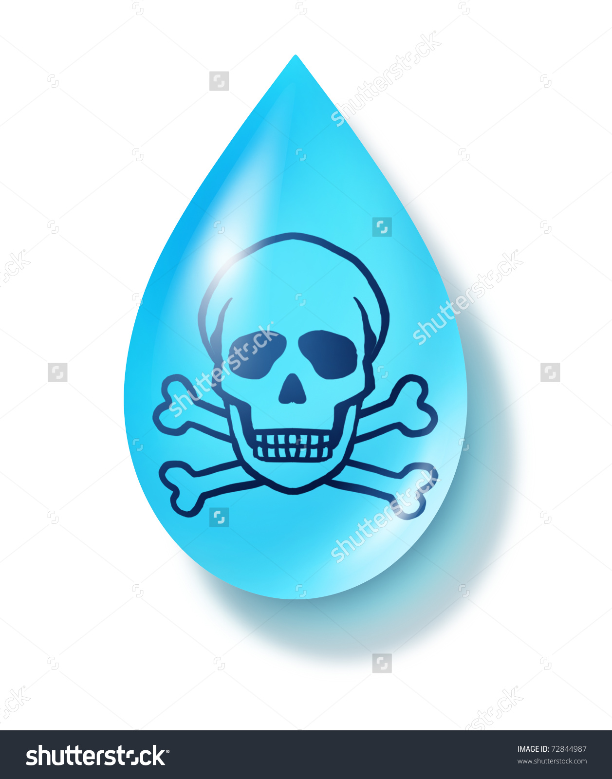 Drinking Contaminated Water Clipart.