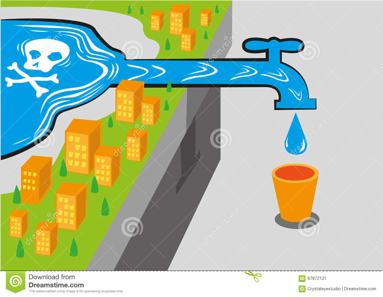 Contaminated Stock Illustrations.